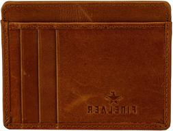 Finelaer Slim Minimalist Front Pocket RFID Blocking Leather
