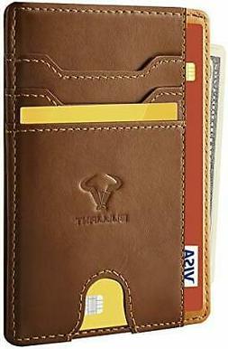 Slim Wallet,Bulliant Skinny Minimal Thin Pocket Wallet For M