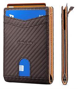 Slim Wallet Front Pocket Money Clip Minimal Bifold Wallet Me