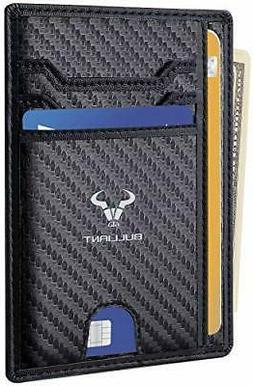 Slim Wallet Men Women Bulliant Minimalist Pocket Wallet Genu