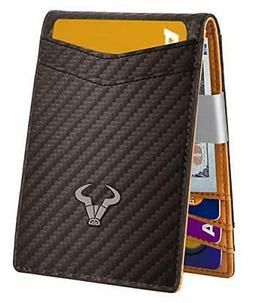 Slim Wallet Money ClipBulliant Mens Front Pocket Wallet For