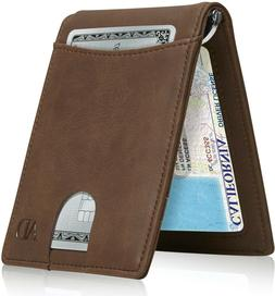 Slim Wallets For Men Bifold Mens Wallet With Removable Money