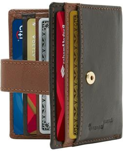 Small Bifold Wallets For Women Slim Organizer Leather Card H