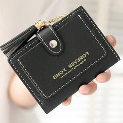 Small Leather Wallet for Women Credit Card Holder Mini Bifol