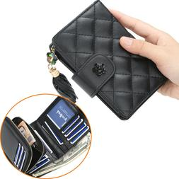 Small Leather Wallets for Women Vintage Ladies Card Holder Z