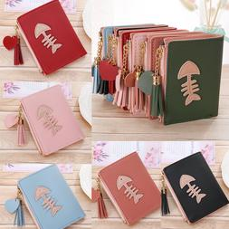 Small Wallet for Women Ladies Leather Bifold Coin Credit Car
