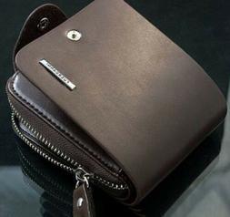 Style Men's Leather Bifold Credit ID Card Holder Billfold Zi
