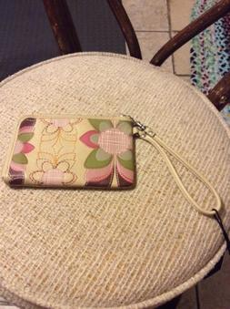Fossil Tan Wristlet Leather For Women Sz M, New Msrp $85