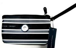 TOMMY HILFIGER TH Women's Ladies Stripes Black Wallet Wristl
