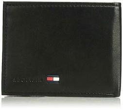 Tommy Hilfiger Men's Leather Wallet - Bifold Trifold Hybrid