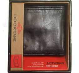 Trifold Black Leather Wallet by Dockers
