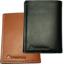 Carhartt Trifold Leather Wallet Men's Rough Cut Trifold Wall