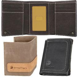 Carhartt Trifold Wallet Men's Pebble Trifold Genuine Leather