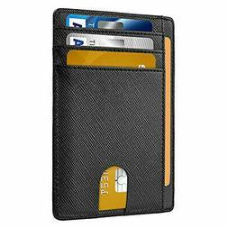 USStock Slim Minimalist Front Pocket RFID Blocking Leather W