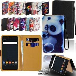 For Various BLU Vivo SmartPhones - Leather Wallet Card Stand