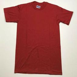Vintage RED PLAIN T Shirt 80s Hanes 50/50 USA Blank Single S