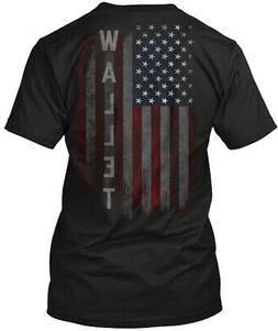 Wallet Family American Flag Hanes Tagless Tee T-Shirt