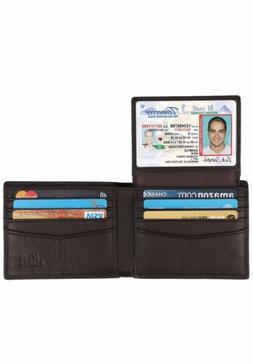 Himi Wallet for Men-Genuine Leather RFID Blocking Bifold Sty