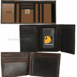 Carhartt Wallet Men's Trifold, Billfold, Bi-fold Genuine Lea