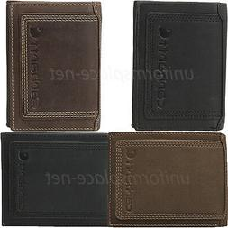 Carhartt Wallet Mens Detroit Passcase Bifold Trifold Leather