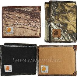 wallet mens passcase bifold trifold canvas leather