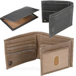 Carhartt Wallet Mens Pebble Passcase Genuine Leather Bifold