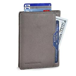 Wallets for Men Mens Leather RFID Blocking Minimalist Card F
