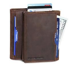 Wallets for Men Slim Mens leather RFID Blocking Minimalist C