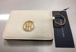 Tommy Hilfiger Woman Pebble Leather ID/Card Wallet Key Chain