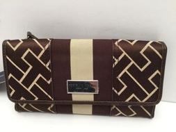 Tommy Hilfiger Woman's Wallet w/Checkbook *Brown Multi Clutc