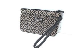 TOMMY HILFIGER Woman's Wristlet Wallet *Black *Cell Phone Po