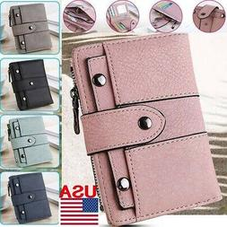 Women Girl Short Wallet Leather Small Clutch Coin Purse Card