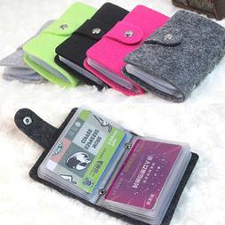 Women Men ID Credit Card Holder Business Pocket Case Slim Pu