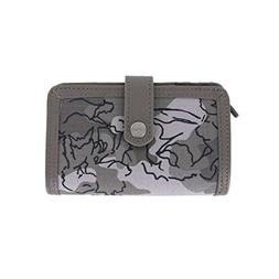 Carhartt Women's Floral Camo Medium Zip Wallet, Asphalt, One