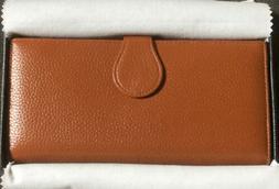 Lavemi Women's RFID Blocking Leather Zip Around Wallet Large