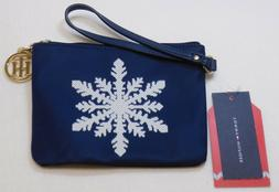 Tommy Hilfiger Women's Snowflake Nylon Wristlet, Navy Blue