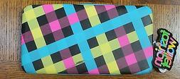 Women's Wallet Case Vinyl Pastel Plaid Credit Card Holder ID