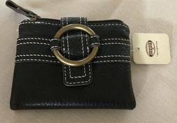 Fossil Women Wallet Brown Pebble Leather Bill NWT
