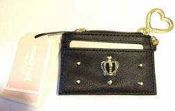 Juicy Couture Women's Novelty Crown Card Case- Black