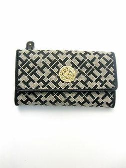 """Tommy Hilfiger Womens Wallet/Clutch""""Small Iconic TH Pattern"""""""