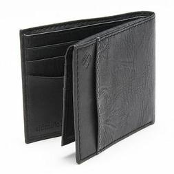 Columbia X-Capacity Security Black Leather Wallet Slimfold-